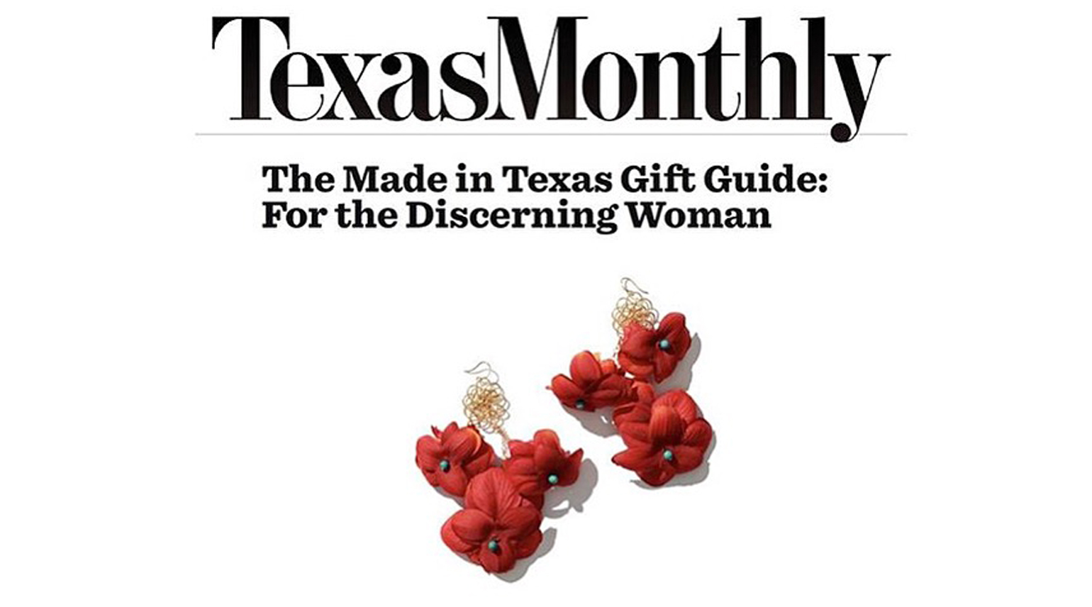 CassandraCollections Floral Earrings in Texas Monthly's Gift Guide!